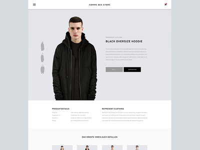 Product Detail interface ux ui minimalistic ecommerce web material clean simple fashion store shop