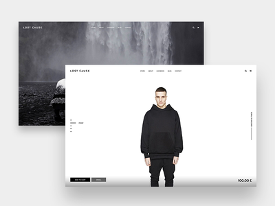 Clothing Brand Website minimalistic ecommerce web material clean simple fashion store shop