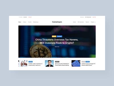 Coinstream Layout webdesign ethereum bitcoin coinbase crypto