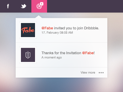 Thank you Fabe! invitation flat debut thanks thank you pop up interface social media conversation