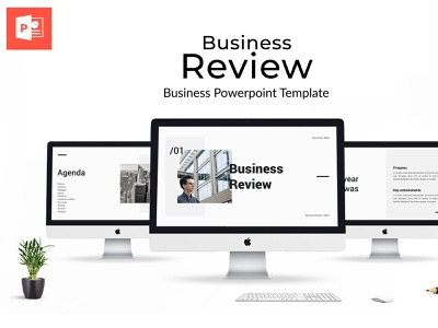 Business Review Powerpoint Presentation trending presentations vertical extended standard grey white corporate marketing review creative simple clean business office pptx ppt presentation keynote powerpoint
