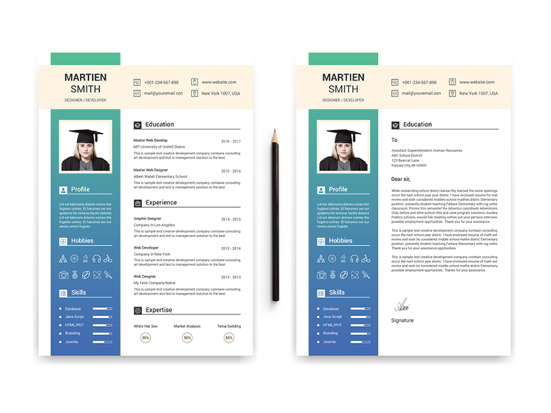 Student - Resume Template by TheStyle on Dribbble