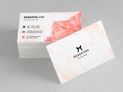 Kebakta Jon Creative Director Business Card