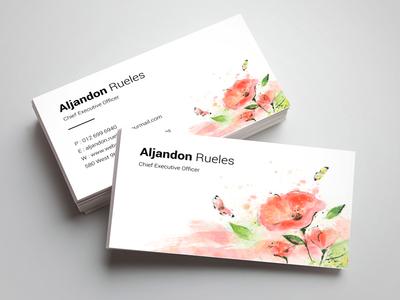 Aljandon Rueles Chief Exexutive Business Card