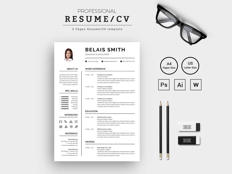 belais smith designer developer resume cv resume template by