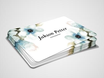 Jakson Petter Photographer Personal Business Card