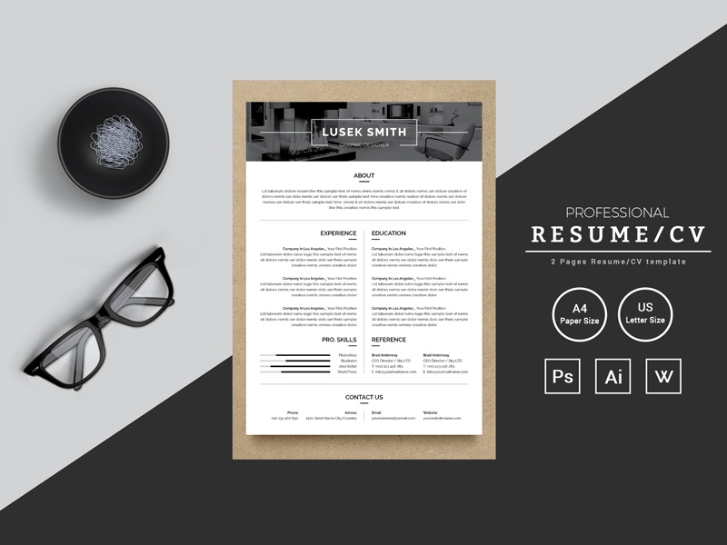 lusek smith graphic designer resume resume template by thestyle