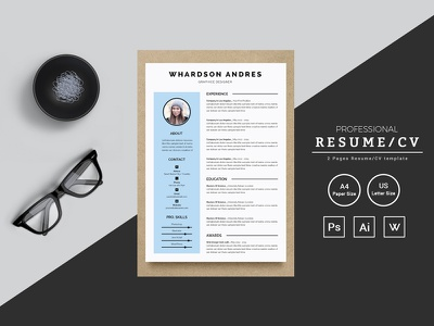 Whardson Andres Graphic Designer Resume Template job seekers doctors resume bankers resume manager cv template resume mac pages student resume professional resume modern resume infographic resume word resume creative resume clean resume cv resume