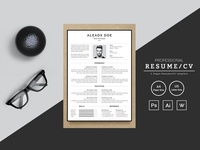 Aleadx Doe Web Developer Resume Template