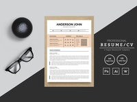 Anderson john Designer & Developer Resume Template