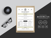 Butler Smith Designer & Developer Resume Template