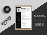 Willes Doe Designer & Developer Resume Template