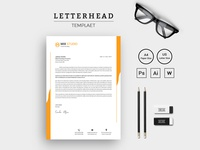 Modern Mix Studio Letterhead Corporate Identity Template