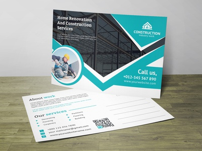 Renovation Post Card Corporate Identity Template