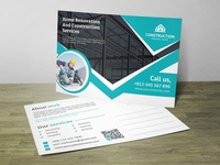 Renovation Post Card Corporate Identity Template