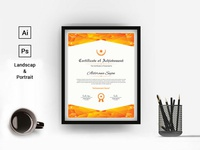 Modern Geometric Certificate Template