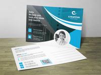 Creative Post Card Corporate Identity Template