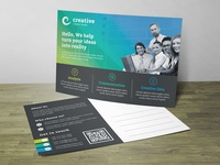 Corporate Post Card Corporate Identity Template