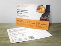 Construction Post Card Corporate Identity Template
