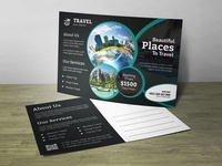 Travel Post Card Corporate Identity Template