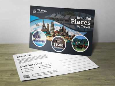 Travel Gift Post Card Corporate Identity Template