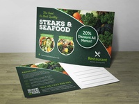 Post Card Restaurant Corporate Identity Template
