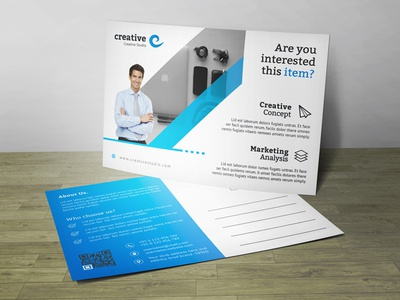 Creative Business Post Card Corporate Identity Template
