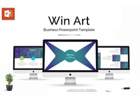 Win Art Business Presentation PowerPoint Template