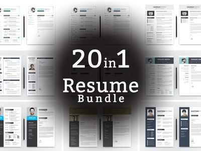 Word CV Bundle Resume Template