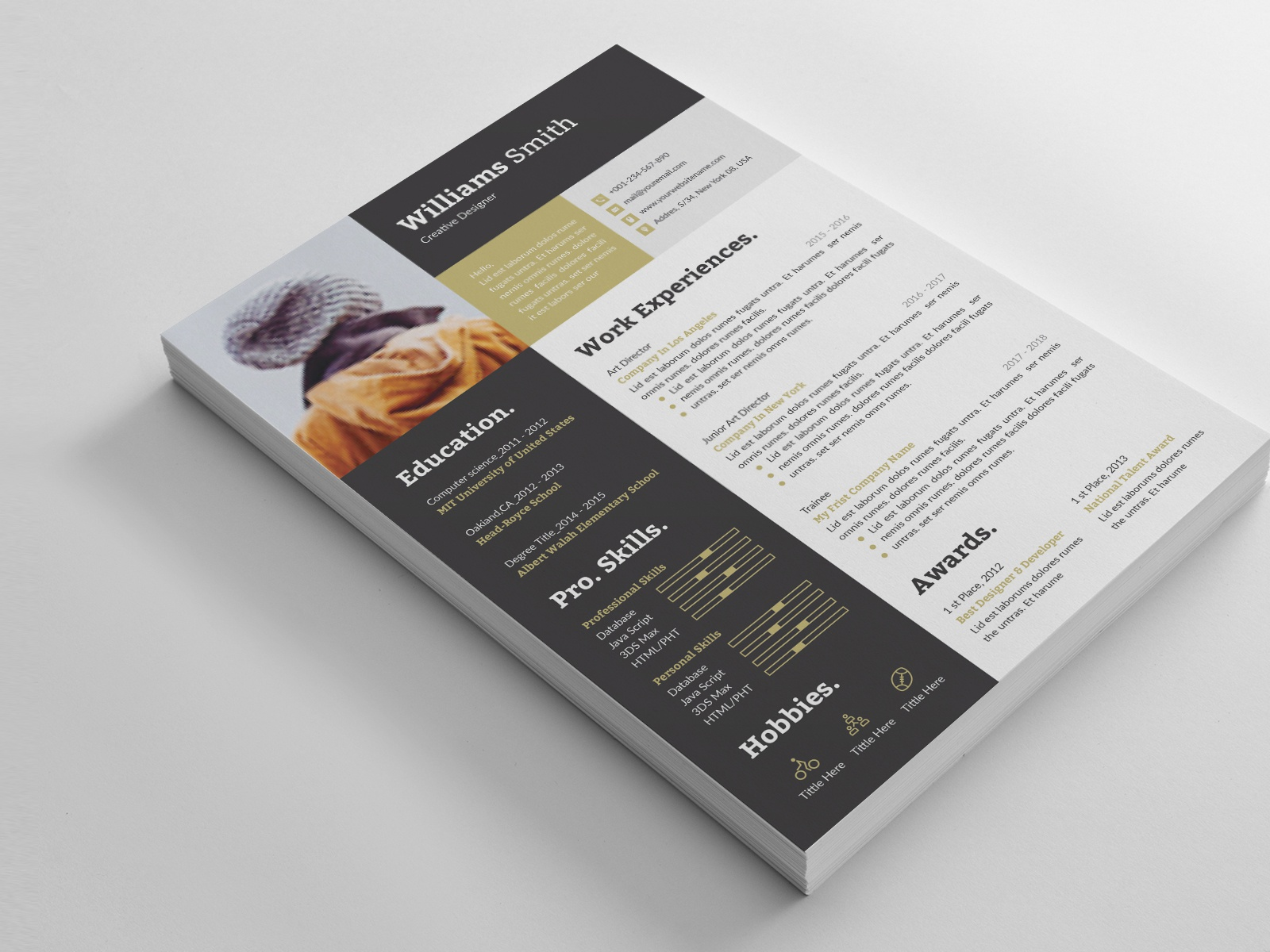 Resume By Thestyle On Dribbble