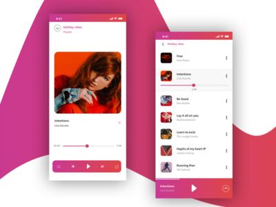 Daily UI Challenge #009 Musicplayer iphone minimal dailyui009 app concept music player dailyuichallenge dailyui app animation ui ux