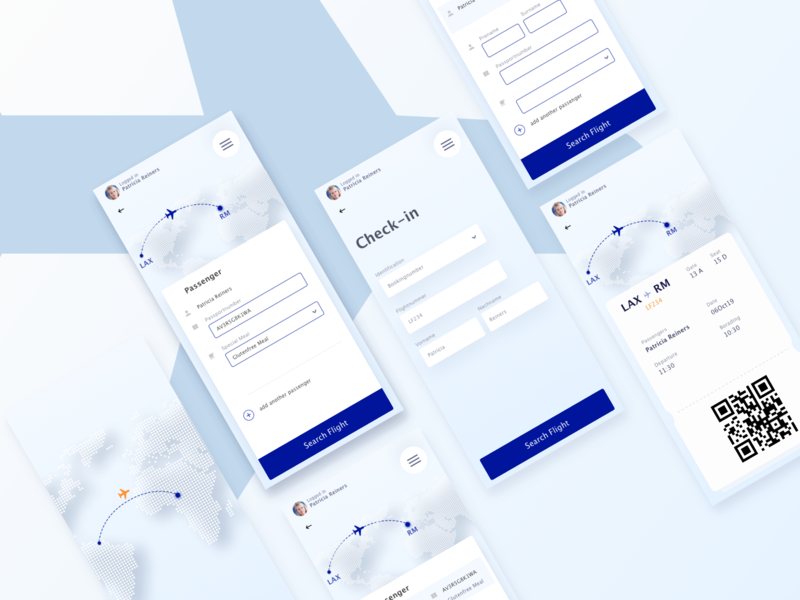 Flight app ✈️ UX / UI exploration user button purchase checkout check in challenges dailyui design app interface color interaction design interaction exploration flight app flight ux ui