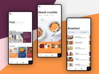 Concept for recipe app