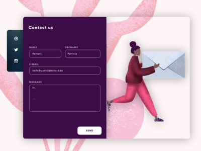 #Dailyui  Contact us photoshop colors app branding adobexd vector flat human illustrations contact app interface app concept daily ui challenge minimal animation ux ui