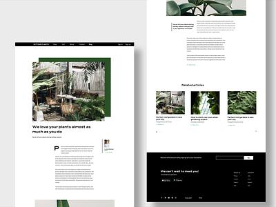 #dailyui  Blog 35 🌱🌿 adobexd plants online onpage website 35 challange daily dailyui ux ui