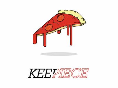 Keepiece logo identity branding brand typography lettering flat art vector sketch minimal illustrator illustration icon graphism design
