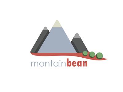 Montainbean blue app ui type logo identity branding brand typography lettering flat art vector sketch minimal illustrator illustration icon graphism design
