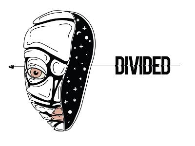 Divided divided inktober 2017 lettering flat icon minimal art vector sketch illustrator illustration graphism design