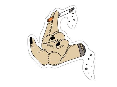 handy-cigarette sticker design sticker art loumam sticker type logo illustré typography flat icon minimal vector sketch illustrator illustration graphism design art