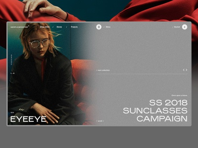 Gentle Monster animation ui ux web photo interaction glasses motion minimal