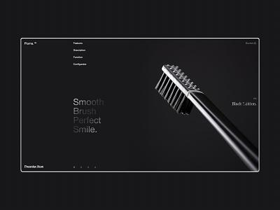 Piuma. grey white typography black web ux ui minimal interaction