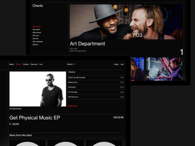 Last.fm website grey typography motion black web ui ux minimal