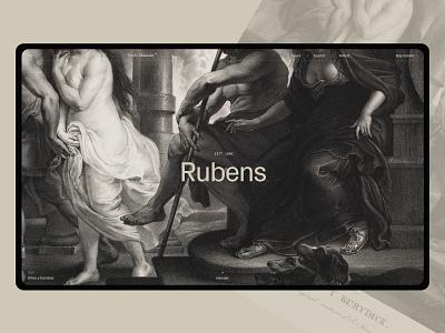 Prado Museum. main promo site promo museum website design grey typography black web ux ui minimal