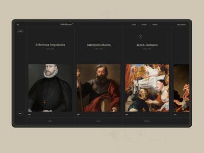 Museo Del Prado. layer-art simple layouts art website animation motion typography interaction black web ux ui minimal