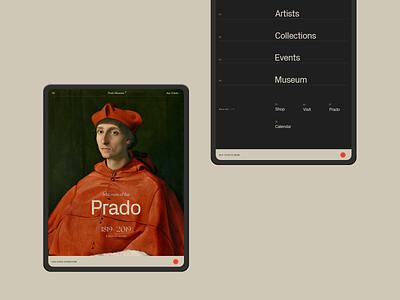 Museo del Prado. ux white black web typography minimal art tablet ui  ux design ui minimal museum