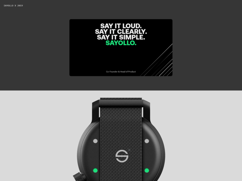 Sayollo. future green web black branding logo design typography ux ui minimal
