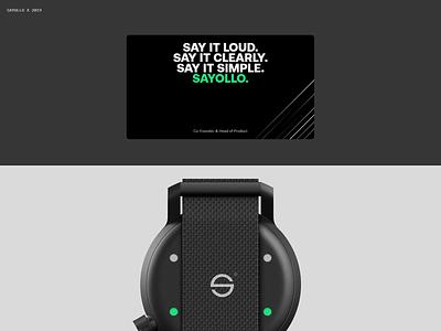 Sayollo. future green web black branding logo design typography ux ui minimal