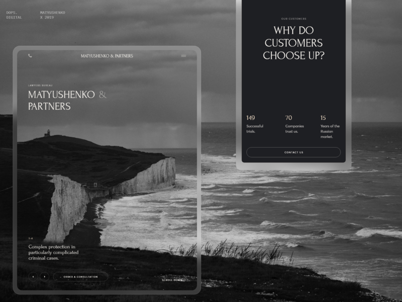 Matyushenko & Partners. art desktop website design black interaction typography web ux ui minimal