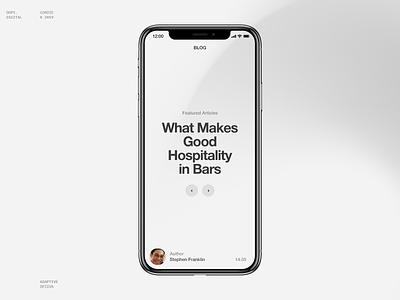 Cordie. grey xd simple mobile design typography web ux ui minimal