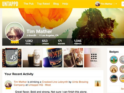 Untappd User Profile